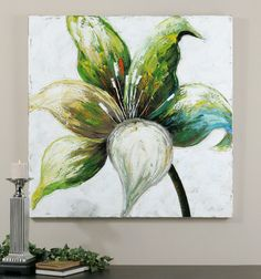 Lovely Lady X Canvas Frameless Floral Art Uttermost Wall Art Wall Art Home Decor Framed Wall Art, Canvas Wall Art, Painting Canvas, Oil Painting Flowers, Floral Wall Art, Beach Art, Flower Art, Art Flowers, Original Paintings