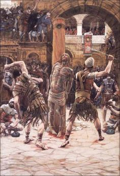 Station 6. The Scourging and the Crowning with Thorns — Stations of the Cross (Scriptural / Biblical), illustrated by James Tissot