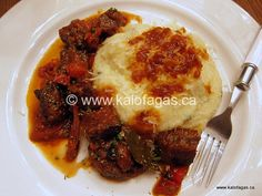 """From the name """"Tas Kebab"""", it's easy to state this isn't a Greek-specific dish – a dish enjoyed in the Levant and its made it's way to the Greek table via Asia M… Greek Dishes, Main Dishes, Food Test, Weekly Menu, Greek Recipes, Main Meals, Food For Thought, Poultry, Cooking Recipes"""
