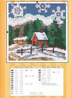 (2) Gallery.ru / Фото #39 - Сезоны - Nadya-S Cross Stitch House, Cross Stitch Samplers, Cross Stitch Charts, Counted Cross Stitch Patterns, Cross Stitch Designs, Cross Stitching, Cross Stitch Embroidery, Blackwork Patterns, Cross Stitch Freebies