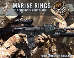 US Marine Corps Help celebrate a great career in the US Marine Corps Personalized custom Military rings : www.us-military-r...  #USMC #USMarines #USMilitary