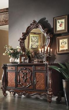 211052pc Versailles 2 Pc Bedroom Set With Dresser And Mirror In