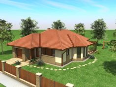 House plan of three bed room and sitting room