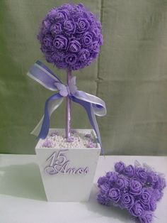 Quinceanera center pieces