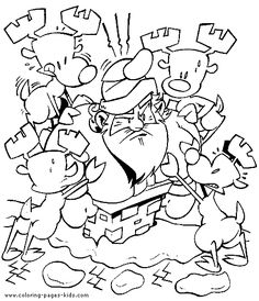 santa stuck in the chimney christmas color page holiday coloring pages color plate