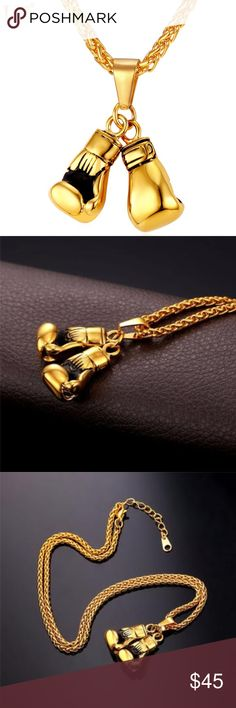 gold boxing chain 14k gold chain Jewelry Necklaces