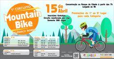 A Prefeitura traz uma novidade boa para quem curte pedalar. A Secretaria Municipal de Cultura, Esportes e Recreação (SMCER) promoverá no dia 15 de abril (domingo), no Parque da Cidade, o 1º Circuito Montain Bike Telêmaco Borba.
