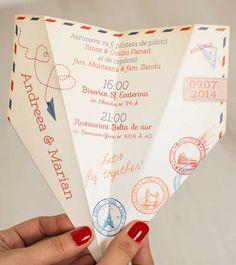Invitatie de nunta Paper Plane_3