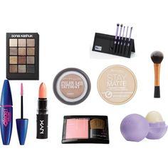 """""""Drugstore Makeup Starter Kit"""" by breannaleighsloan on Polyvore"""