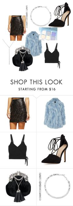 """""""Birthday Outfit"""" by carla-santarelli on Polyvore featuring Miss Selfridge, Topshop, Madewell, Vince Camuto, Anastasia Beverly Hills, Miu Miu, Jennifer Lopez and Eternally Haute"""