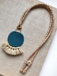 necklace crocheted with tassel and beads crochet tassel beads inspiration instyle winterstyle necklace crocjetnecklace metal glamorous wintercollection Crochet Necklace Pattern, Crochet Jewelry Patterns, Crochet Accessories, Crochet Jewellery, Rope Jewelry, Jewelry Crafts, Beaded Jewelry, Jewelery, Fabric Necklace