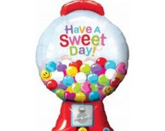 Gumball Machine Foil Balloon, 43 Inch Bubblegum Machine Balloon, Party Balloons, Party Decorations, Kids Party, Donut Party, Ice Cream Party by littlepartyeventco. Explore more products on http://littlepartyeventco.etsy.com