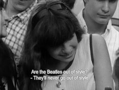 A Beatles' fan with foresight.