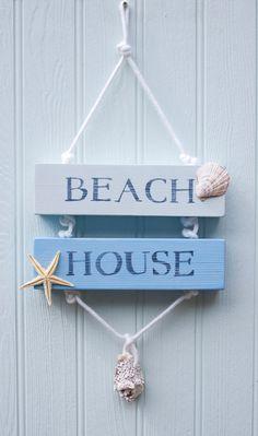 Cartel de madera de casa de playa playa por driftwooddreaming