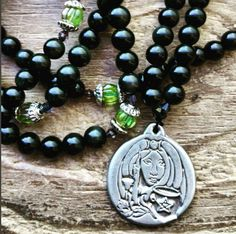 Path of the Witch, witch rosary, witch prayer beads, witch mala, pagan prayer beads, pagan rosary, wicca rosary, wicca prayer beads by MagickAlive on Etsy