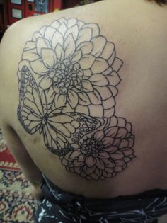 Love the size and placement of this one and the combo of butterfly & flower