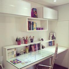 Desk Decor Ideas to Make Your Home Office. 🏘🏘 Home Decor – Home Office Design Diy Study Room Decor, Cute Room Decor, Home Office Design, Home Office Decor, Home Decor, Library Design, Small Room Bedroom, Bedroom Decor, Study Table Designs