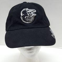 0e4d8ee39a3 MLB Baltimore Orioles Bling Hat Cap Black Strapback 100% Cotton Sequins   FanFavorite  BaltimoreOrioles