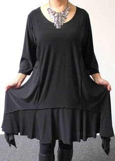 Stylish N Exclusive crazycuts long Lagenlook Plus Size and Regular size Tunic Dress. Free Shipping Limited Time, $69.00