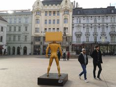 Spotted in #Bratislava town square. What could it be?