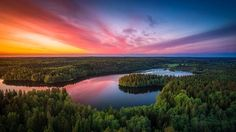 Aulangonjärvi From Above - Sunset at Aulanko Nature reserve, Hämeenlinna, Finland. One of my most loved places to go offline and shoot photos. Just 10 minutes drive from my home. NiSi Filter holder + NiSi GND Filters were used to take this shot. Reflection Photography, Landscape Photography, Nature Photography, Travel Photography, The Beautiful Country, Beautiful World, Wonderful Places, Beautiful Places, Amazing Places