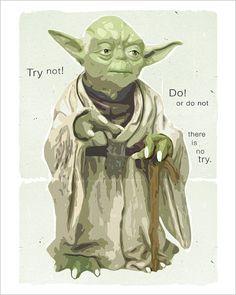 Starwars poster - Star Wars Yoda Poster - Yoda Wisdom - 8x10 print - Star Wars poster Starwars character print