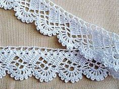Háčkovaná krajka Col Crochet, Crochet Lace Edging, Crochet Borders, Crochet Stitches Patterns, Lace Patterns, Filet Crochet, Crochet Doilies, Crochet Phone Cases, Crochet Projects