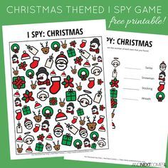 Christmas Themed I Spy Game {Free Printable for Kids}
