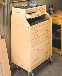 Slant-Front Tool Cart Tutorial