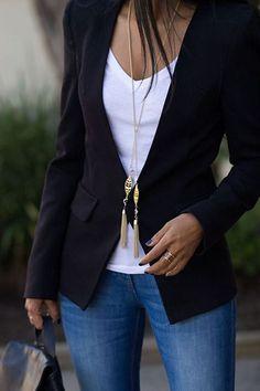 I love Blazers they immediately smarten up jeans