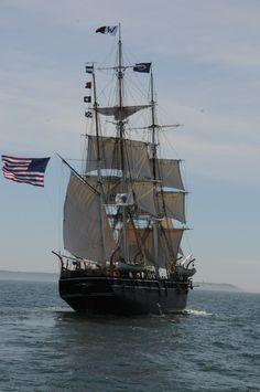 The CHARLES W. MORGAN sailing off Gay Head on Martha's Vineyard on June 18, 2014.