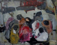 18-6. Auf halber Strecke im Nirgendwo. #Afrika #Flüchtlinge #refugees #desert #figures #people #africanpeople #expressionistisch Refugees, People, Painting, Art, Expressionism, Painting Art, Kunst, Art Background, Paintings
