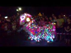 Lion Dance Sandakan Wushu 2011 (colored lights)