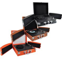 Pyle PVTTBT88 Vinyl Record Turntable With Bluetooth, MP3 Recording And  Fold Out Speakers