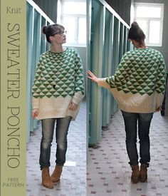 DiaryofaCreativeFanatic: Needlecrafts - Knit, Swonchos - what if you found a sweater at goodwill and cut and sewed the sleeves like this?