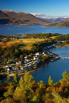 Plockton, Scottish Highlands. The hills of Applecross and Torridon in the background.