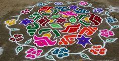 Durga Designs: Colour Kolam