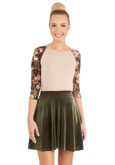 Eternal Echo Skirt in Peridot. You cant help but sing the praises of this versatile A-line mini skirt! #green #modcloth