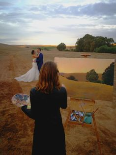 Live wedding painting process with Mary Paints Weddings