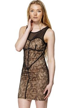 ScottyDirect - Mesh Top Lace Bodycon Dress, $54.95 (http://www.scottydirect.com/mesh-top-lace-bodycon-dress/)