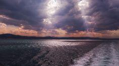 Moody coastline seen from the ferry from Ancona to Igoumenitsa.