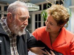 Fidel Castro e Dilma Rousseff se encontraram em Havana na segunda-feira (27) (Foto: Alex Castro/Cubadebate/AP)