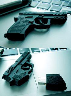 gun USB flash drive