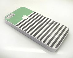 Stripe mint Green iPhone case iPhone 4 case iPhone 5 by DIYwares