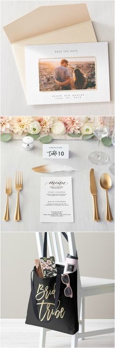 Planning your big day? It's always easier with Zazzle. From invitations to small details, they have it all! #zazzle #wedding #gifts #invitations #bride #tribe #bridesmaid #menu #save #the #date #gold