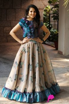 Distant Dream - House of Ayana Lehenga Designs, Kurta Designs, Kids Blouse Designs, Half Saree Designs, Fancy Blouse Designs, Kurti Designs Party Wear, Long Gown Dress, Lehnga Dress, Long Frock