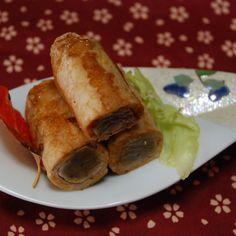 豚ロース肉のコンニャク巻き XO醤焼き