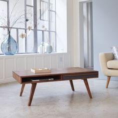 Tikamoon Solid Sheesham Indian Rosewood Coffee Table Vintage Style Scandinavian