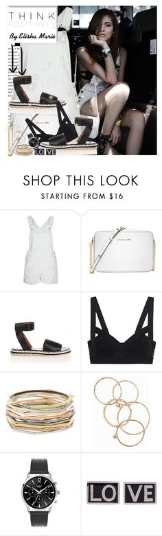 """""""THE BELIEF SYSTEM :)(:"""" by liliemc ❤ liked on Polyvore featuring Topshop, Michael Kors, Givenchy, Kendra Scott, NLY Accessories and Henry London"""