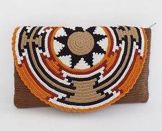 """Original"" Medium Wayuu Clutch Bag +""FREE"" Wayuu Bracelet +""FREE"" US Shipping ++ in Clothing, Shoes & Accessories, Women's Handbags & Bags, Handbags & Purses Tapestry Crochet Patterns, Crochet Mandala, Stitch Crochet, Crochet Chart, Homemade Bags, Crochet Patron, Tapestry Bag, Boho Bags, Crochet Purses"